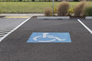 handicap parking marking parking lot raleigh nc